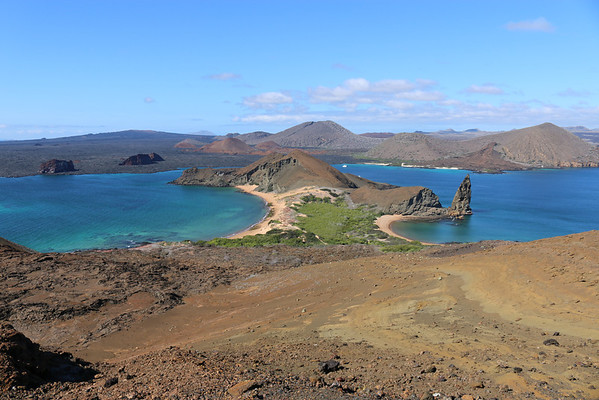 BARTHOLOMEW ISLAND Pinnacle Rock and Santiago Island